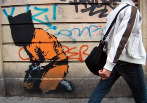 Guantanamo Prisoner, Political Graffiti. Banksy