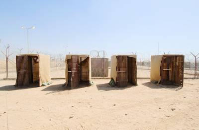 Segregation Cells, Camp Remembrance, new Abu Ghraib prison, Abu Ghraib, Iraq. Richard Ross