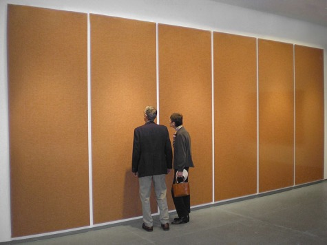 Chris Jordan. Prison Uniforms, 2007. Installed at the Von Lintel Gallery, NY, June 2007.
