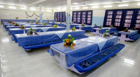 An interior view of the dining facility at the newly opened Baghdad Central Prison in Abu Ghraib on February 21, 2009 in Baghdad, Iraq. Wathiq Khuzaie for Getty Images Europe.