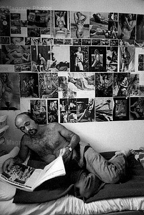Jean Gaumy. Convict in his Cell, St-Martin-de-Ré. La Citadelle. Prison. 1976