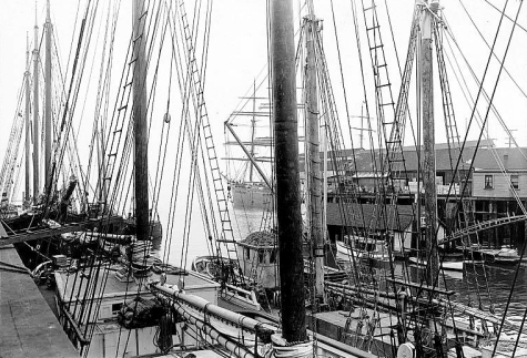 Prison ship SUCCESS, Seattle, 1915. Photographer Unknown. Image: University of Washington Digital Archives