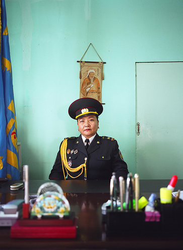 Munkhbayar is the director of the women's prison just outside Ulaanbataar, her background is in Law. © Grace Gelder