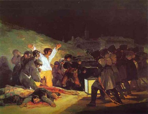 """May 3, 1808: Shooting at Montana del Principe Pio"", 1814. Francisco Jose de Goya (1745-1828) Collection of the Prado, Museum, Mardid."