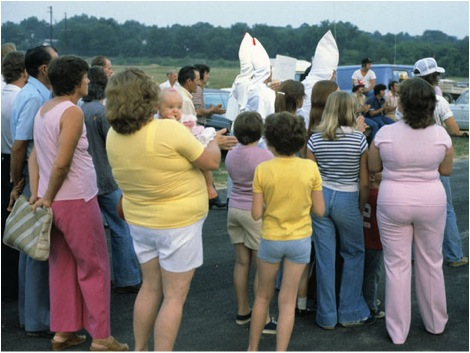 Poor whites at a Klan gathering in Alabama. © Jacob Holdt