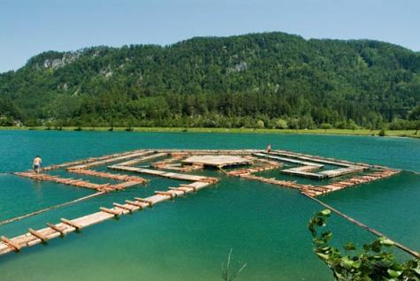 Floating Maze, Festival der Regionen. 2007, by Peter Sandbichler.