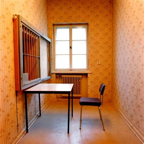 Germany, East Berlin. Visitor-room in former Stasi prison Hohenschoenhausen. Political prisoners were held in this prison. Martin Roemers