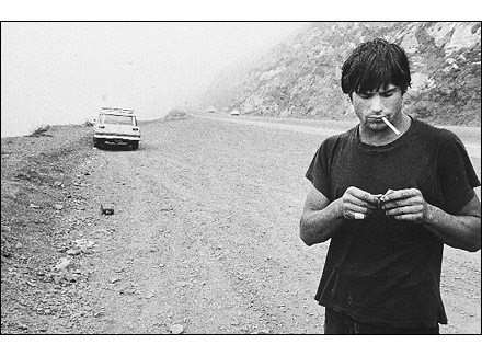 Clockwork Malibu, Rick Dano on the Highway, Malibu, CA. Anthony Friedkin. 1977. Photography - Silver Print. 16 x 20 inches