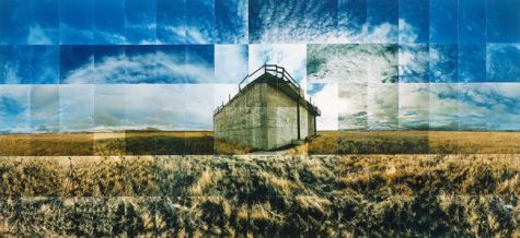 "Tule Lake Relocation Camp, Sewer, Tulelake, California © Masumi Hayashi. Panoramic photo collage with Fuji Crystal Archive prints, 1996. Size: 32"" x 59"""
