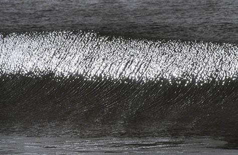 Sun Reflections on Wave, Zuma Beach, CA, 2000. Anthony Friedkin. Photography - Silver Print. 16 x 20 inches