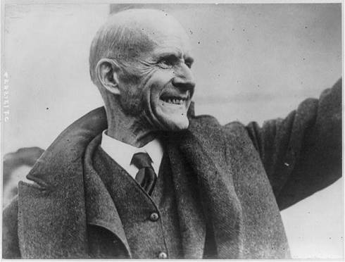 Eugene V. Debs, Five times Socialist candidate for President, as he leaves the Federal Peniteniary at Atlanta, Georgia on Christmas Day, 1921 Library of Congress Prints and Photographs Division, # LC-USZ62-75578 (b&w film copy neg). Photoprint copyrighted by Underwood & Underwood, No. S/282,151/FC.