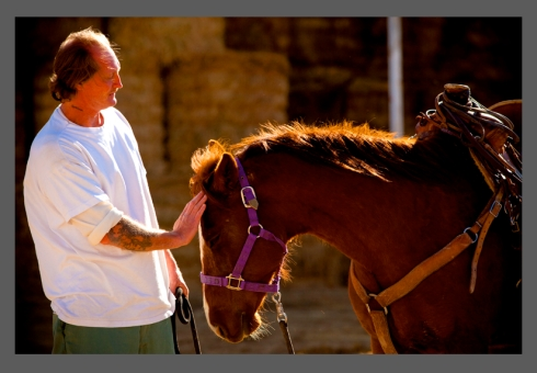 Screengrab - Inmate Benjamin Terry stands with Sierra, a mustang he trains as part of the Wild Horse and Inmate Program at the Cañon City Correctional Complex on March 17, 2010 in Cañon City, Colorado.. © Dana Romanoff