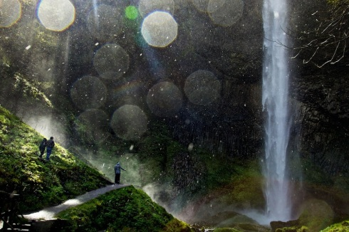 Vistors enjoy dynamic weather in the Columbia Gorge