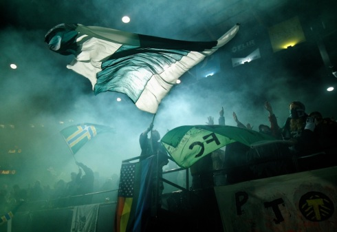 The Portland Timbers play Real Salt Lake at Jeld-Wen Field