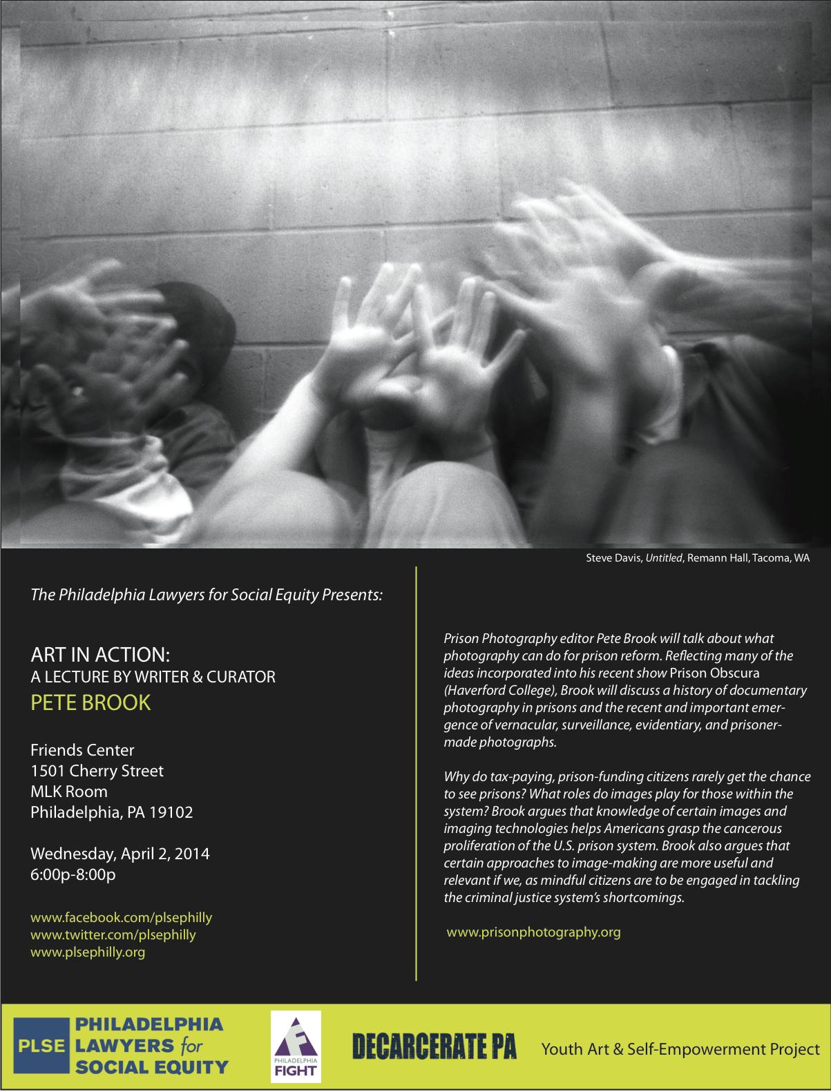 Prison Photography Lecture Philadelphia April 2