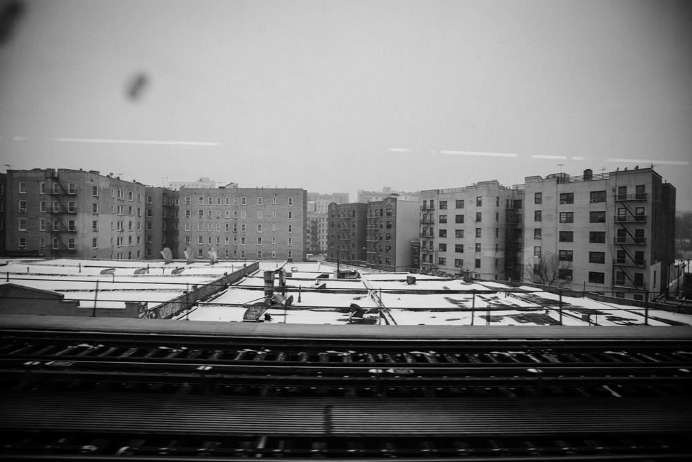 A View Of The Bronx From The Elevated Train In New York, NY On Dec. 14, 2013.