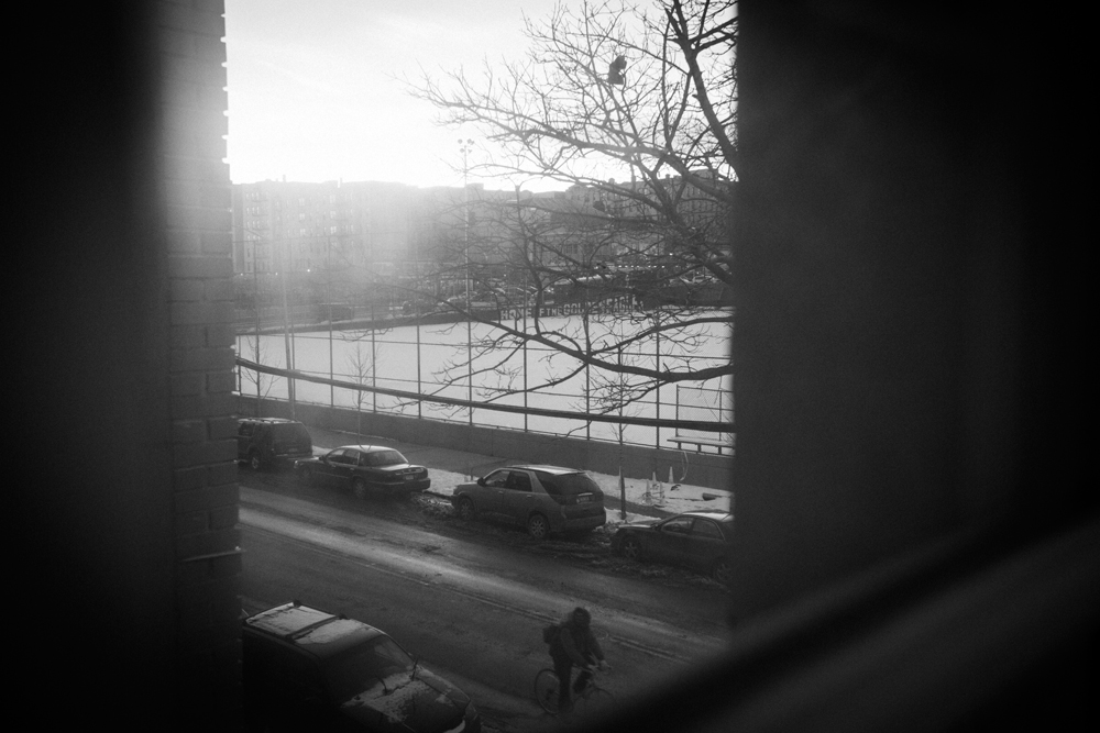 The View From DJuans Bedroom In The Bronx, NY On Jan. 24, 2014.