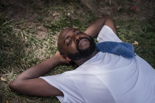 man-resting
