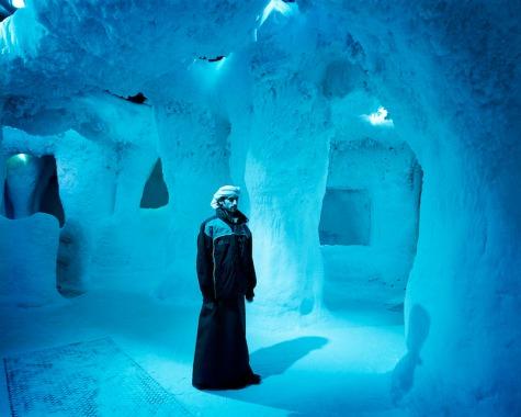 Dubai, Ski Dubai, Indoor Skiing Hall, Portrait in the Icecave