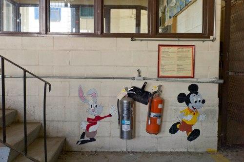 Mural,  former canvas repair shop