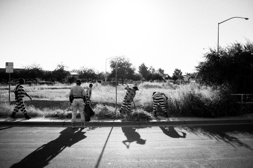 An all-female chain gang. Maricopa County, Arizona.