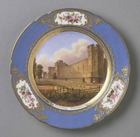 Decorated by the shop of Louis Marie François Rihouët, French Hard-paste porcelain with enamel and gilt decoration