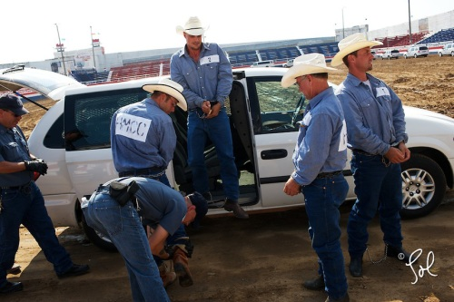 Oklahoma State Prison Rodeo. McAlester, Oklahoma.