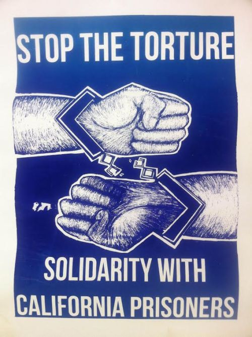 Solidarity with CA prisoners poster 2